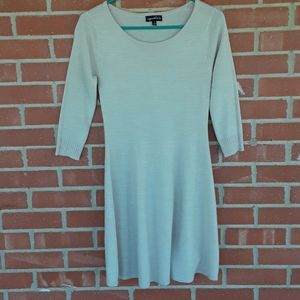 Sequin Hearts neutral taupe sweater dress size s